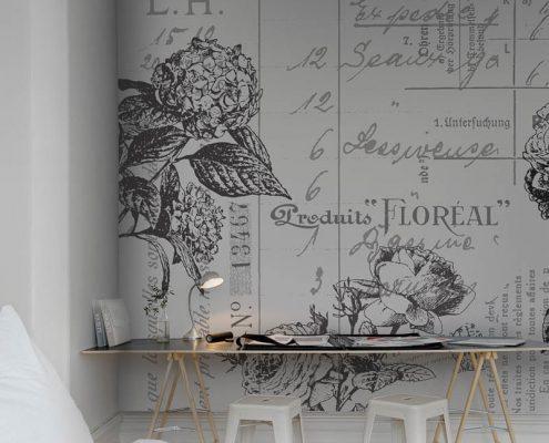 Tapetenkollektion Rebel Walls - Designtapete - Fototapete - R12642 - black&white - floral